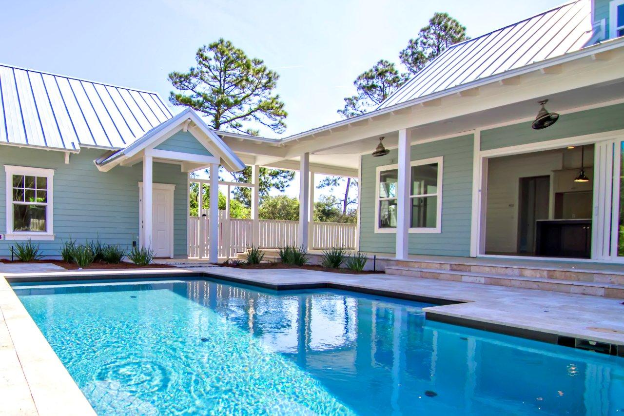 Coastal inspired decor tips for your home glenn layton homes for Home plans with pools