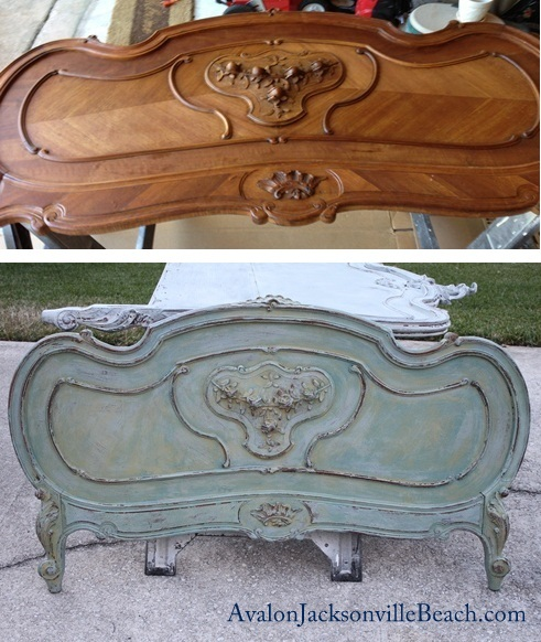 Jacksonville coastal design decorating with painted furniture for Painting a headboard